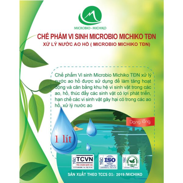 Chế phẩm vi sinh xử lý nước ao hồ Microbio Michiko